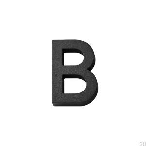 House numbering capital letter B Aluminum