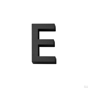 House numbering capital letter E Aluminum