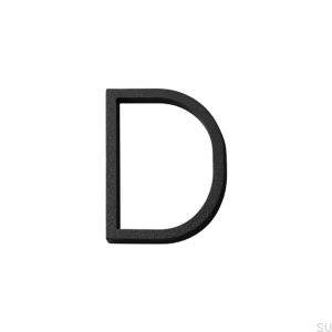 House numbering capital letter D Aluminum