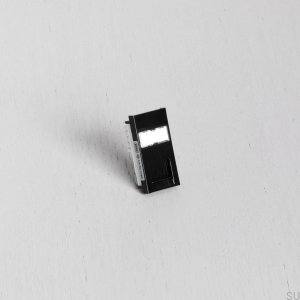 RJ45 CAT6 Socket Module to Euro Plate Black