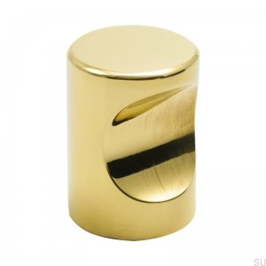 Furniture Knob Haga Gold Brass Polished Lacquered