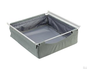 Textile basket 800 726X150 Gray