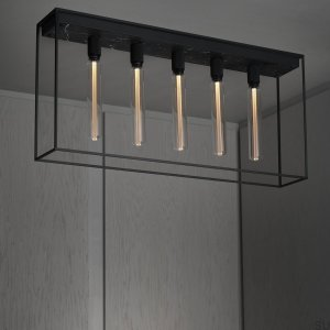 Ceiling Lamp 5.0 - Satin Black Marble / Buster Bulbs
