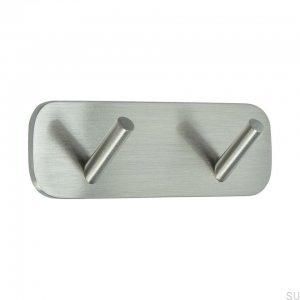Wall hanger Solid 2 Brushed silver