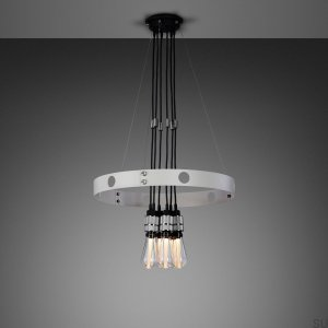 Hero Light Hero Light Chandelier Stone / steel- .75M [A7001L]