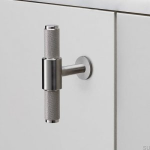 Furniture handle T-Bar Steel Silver