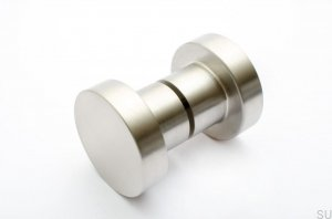 Door Knob Dot 50 Brushed Stainless Steel