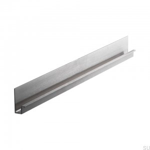Wall edge furniture handle 496 Silver Aluminum