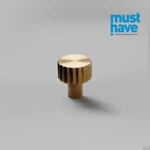 Lexi XS furniture knob Brass Brushed Unpainted