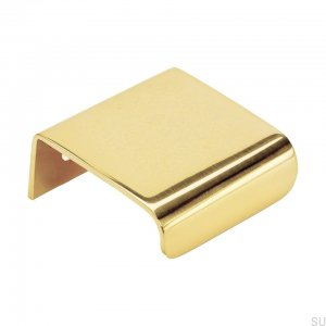 Edge furniture handle Lip 40 Gold Polished and lacquered brass