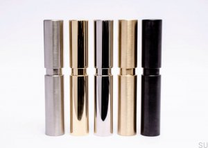 Cylinder Candle Holder - Black Stainless Steel 30X170