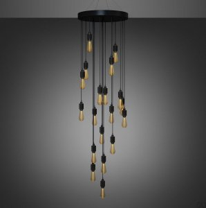 Heavy Metal Cascade Chandelier (selectable on request)