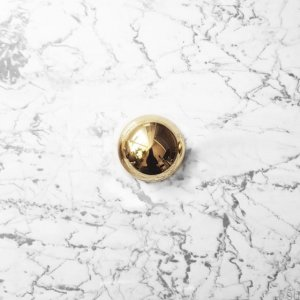 Furniture Knob ODETE (M) Polished and Lacquered Brass