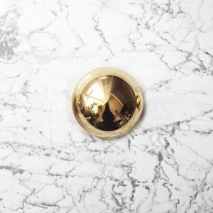 Furniture Knob ODETE (L) Polished and Lacquered Brass