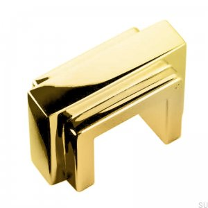 Art Deco 10A oblong furniture handle Brass