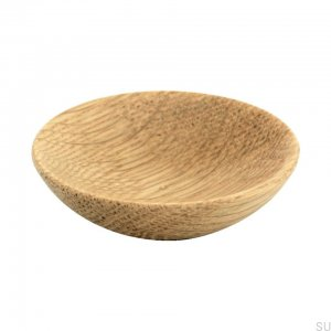 Bowl furniture knob, wooden, oak